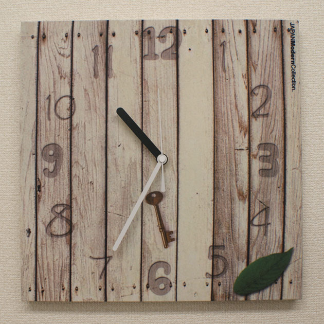 White wood deck a stylish designer wall clock original | wall clock | clock | fabric | design