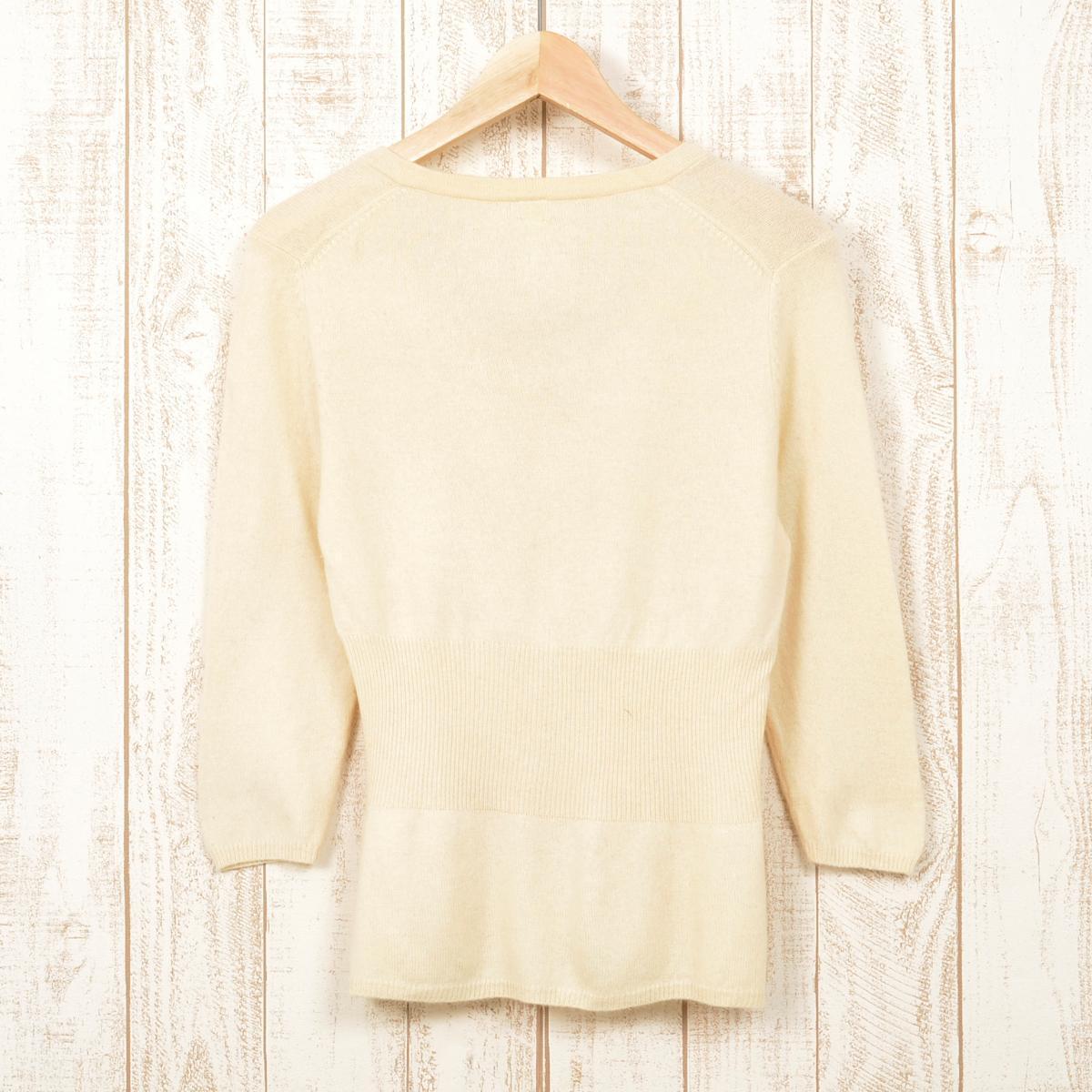 羊绒编织物♪Future Paradise羊绒100%编织物对襟毛衣/尺寸S/ne8808♪#131206