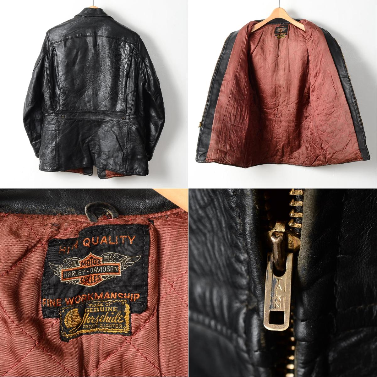 利亚 ! 50 年代 Harley Davidson 老乡老乡美国取得双射线夹克男装 S 老式 Harley Davidson /wed4061 140925。