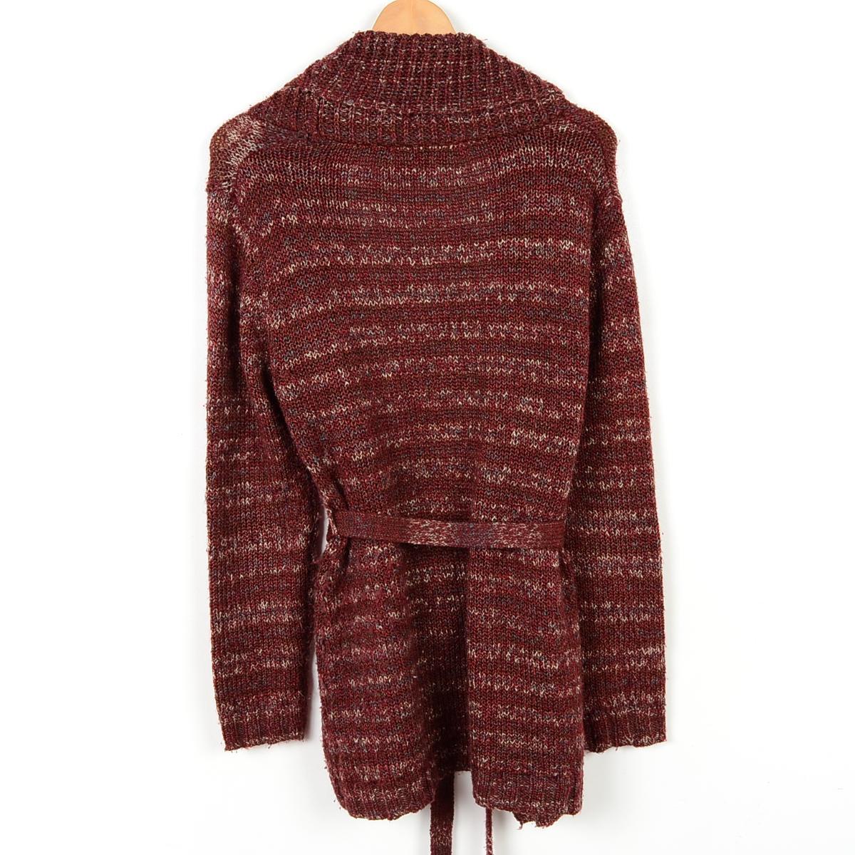 白标签围巾彩色丙烯长编织物对襟毛衣SMALL(4/6)女士M WHITE STAG/wem4406 160121