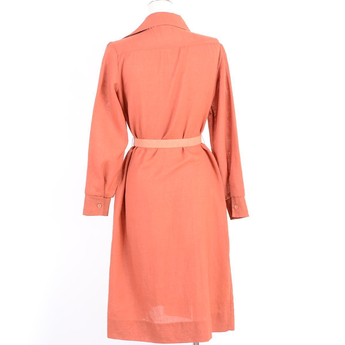 有开放的彩色腰身皮带的细皱褶长袖子衬衫连衣裙女士M~L kenny classics/wen4448 160304