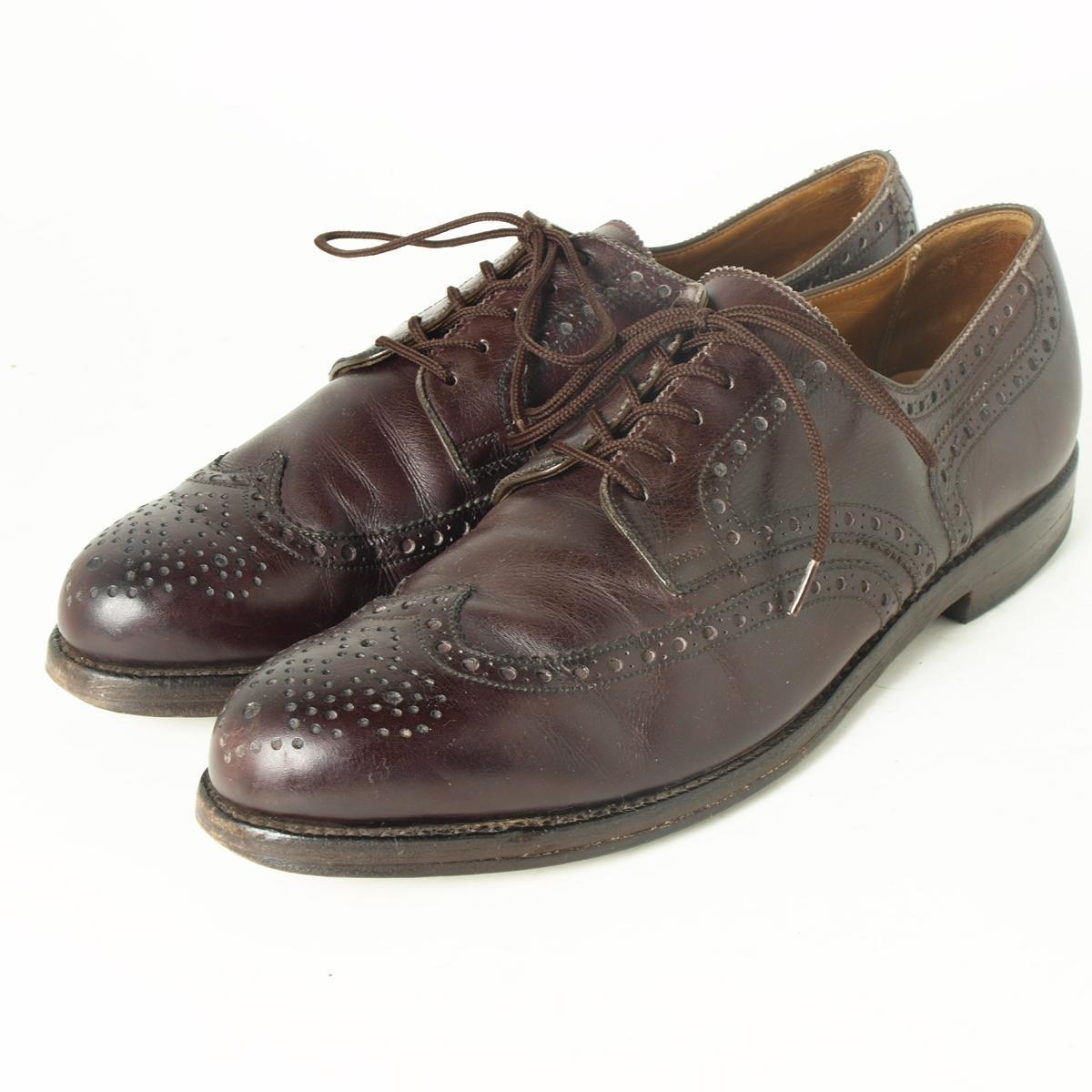 爱德华梅椰ALTIERI德国制造翼梢鞋9B人27.5cm EDUARD MEIER/boi4238 160314