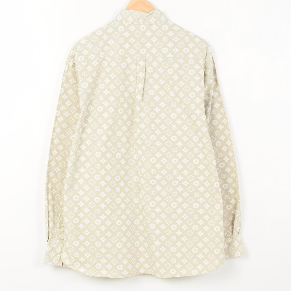 suteyushimonoguramu USA制造长袖子按钮降低衬衫人L STUSSY/wen9551 160403