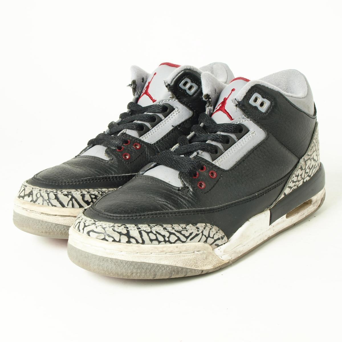 nike air jordan 3 retro jordan sneakers in original color us5.5y ladies 24.0 cm nike boi6374 160417