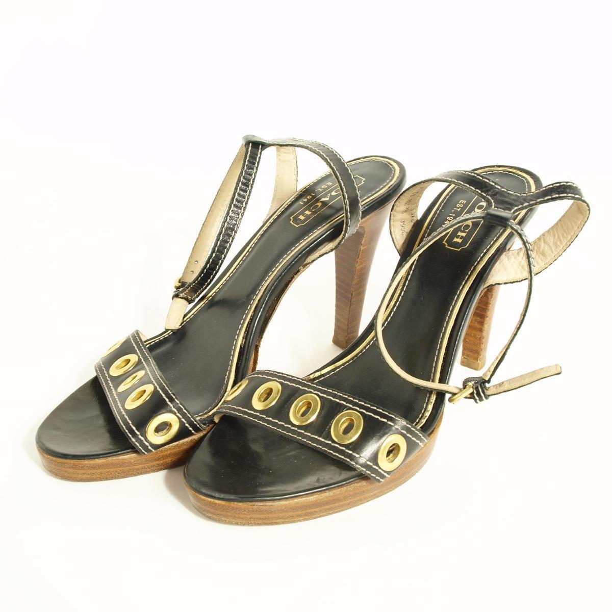 教练意大利制造女用浅口无扣无带皮鞋8B女士24.5cm COACH/boj0317 160702