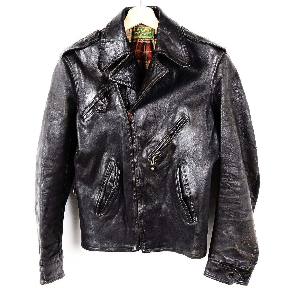 a2975facd 30s - Levis Levi's LEVI STRAUSS LEATHER COATS leather sports jacket men S  vintage /weu0179