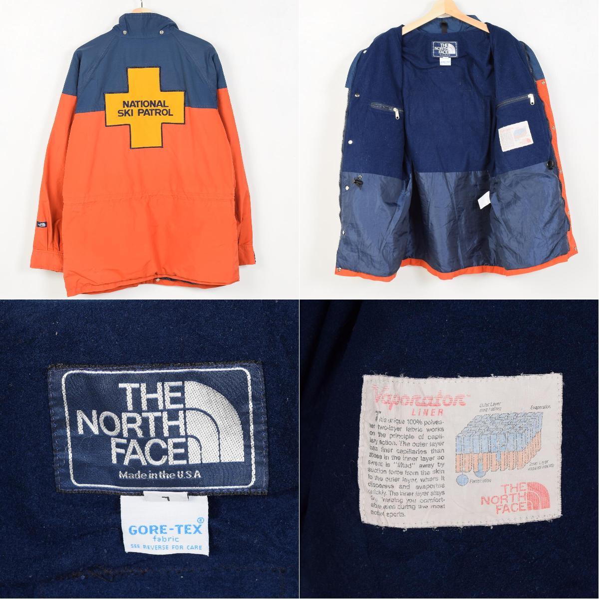 80 北脸海军蓝色标记美国作出戈尔特斯戈尔特斯山大衣 L L 男装老式北脸 /wet2833 160819