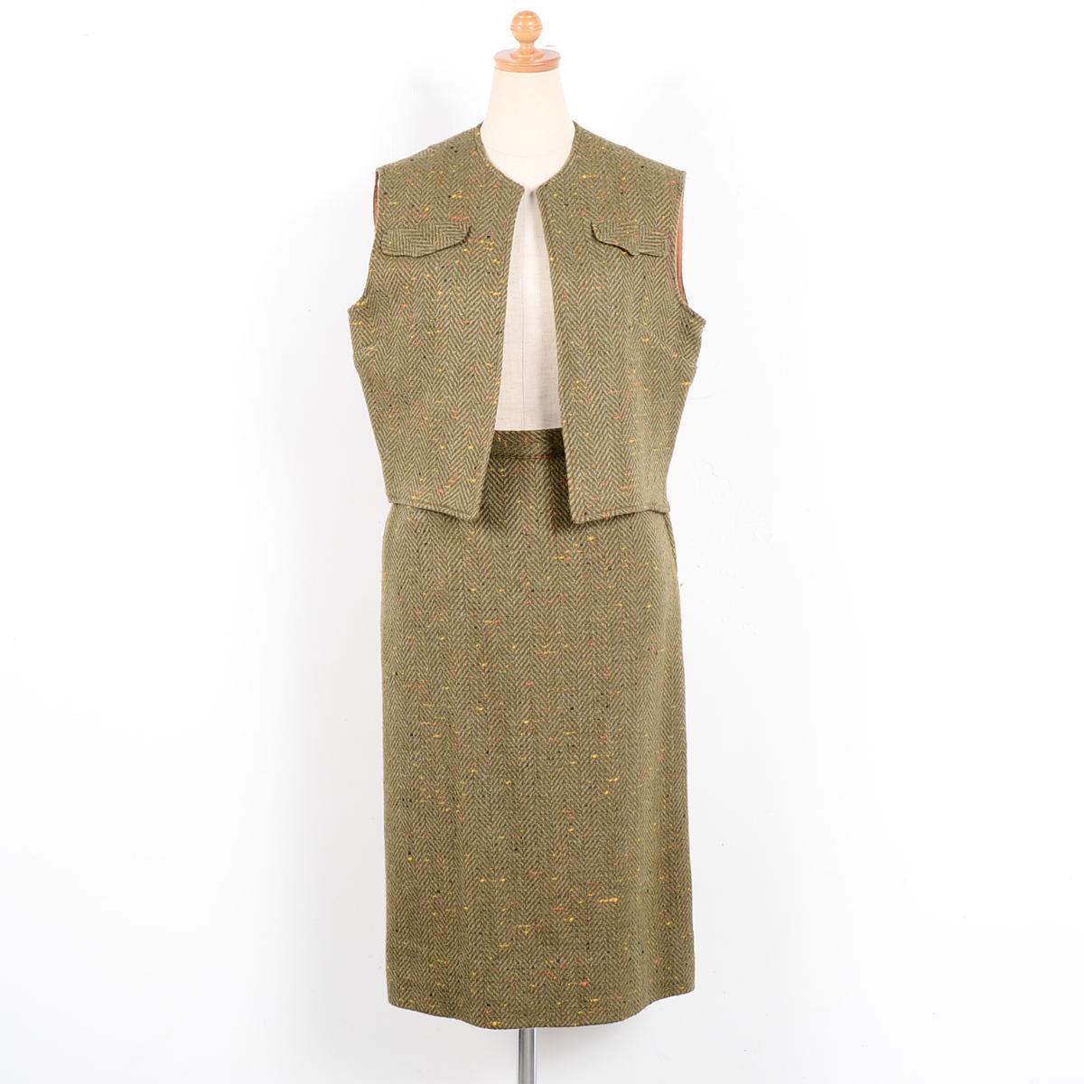 60年代 Andrea Lawrence Fashioned by Claret ウールベスト レディースS ヴィンテージ /wet8511 【中古】 【180616】