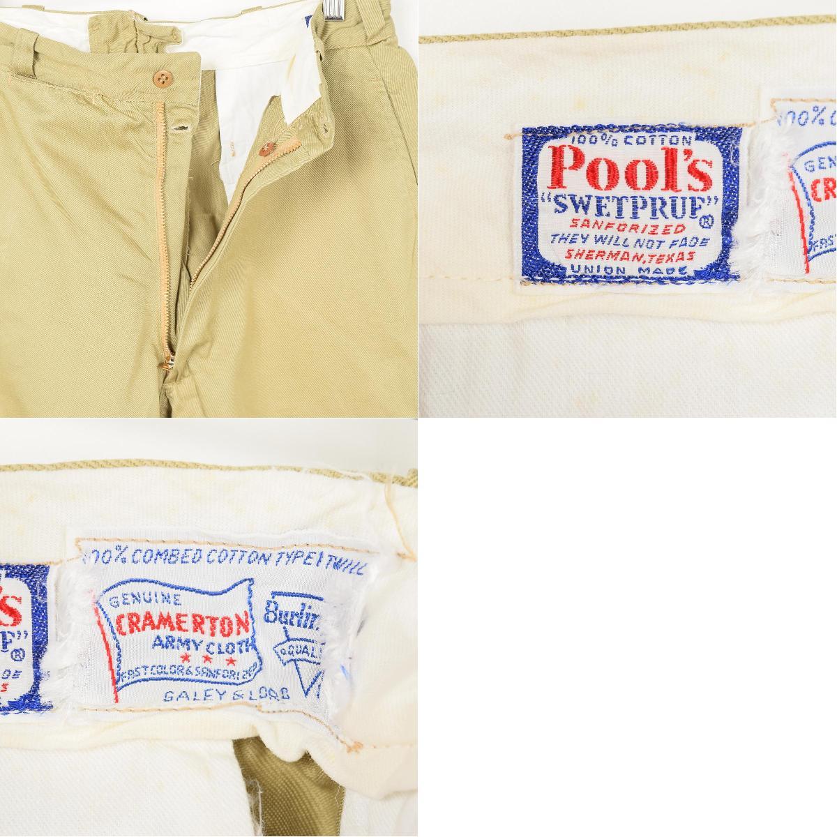 60 年代美国奇诺男装 w31 老式池的 SWETPRUF /wet7459 160903