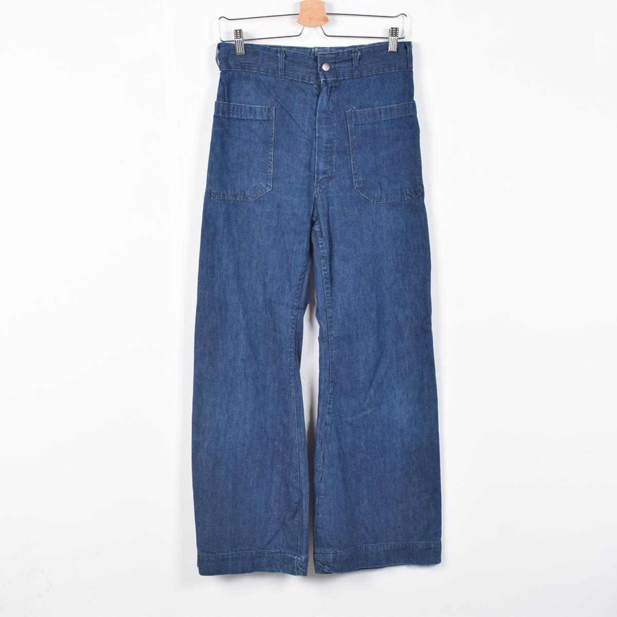 60 年代推出的 WALDES 拉链牛仔布水手裤裤男装 w30 老式海员 /wet7523 160911