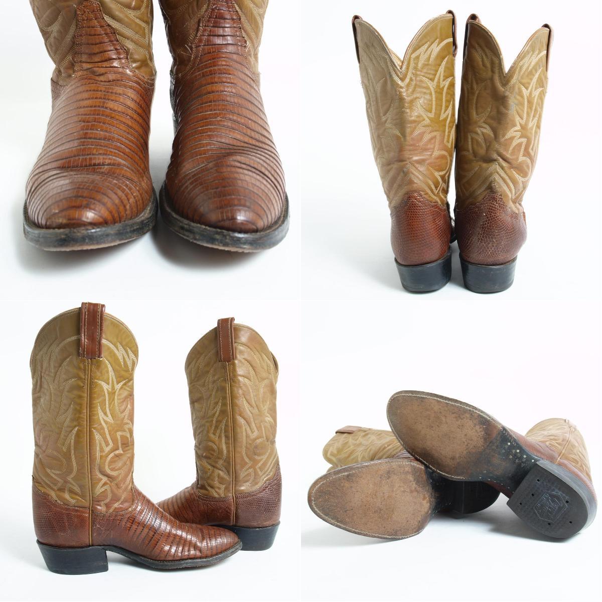 托尼喇嘛-美国取得金标黑色标签西方靴子男装 25.5 厘米托尼喇嘛 /boj1651 160910