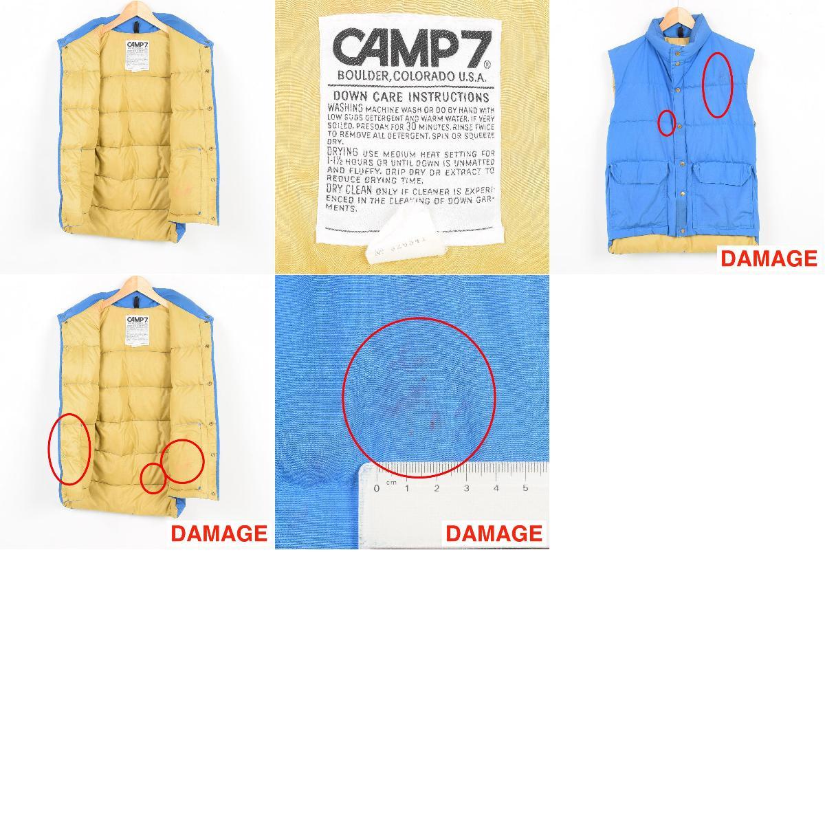 营地 7 下背心男装 M 老式 CAMP7 nawev2574 160922