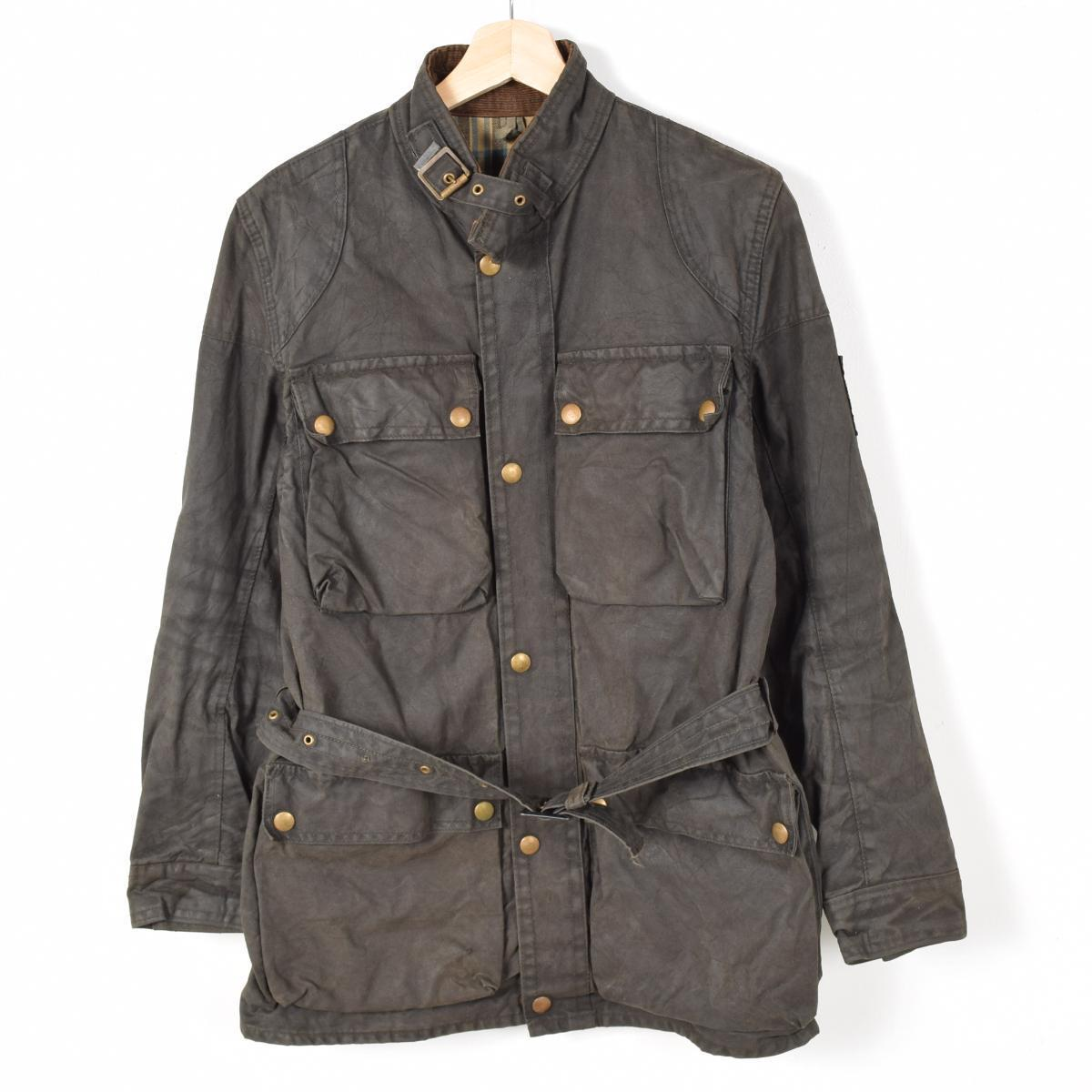 6dc958d74bc0 Belstaff TRIALMASTER Professional trialmasterprofectional United Kingdom  made of waxed cotton oiled jacket mens L vintage Belstaff  weu6201