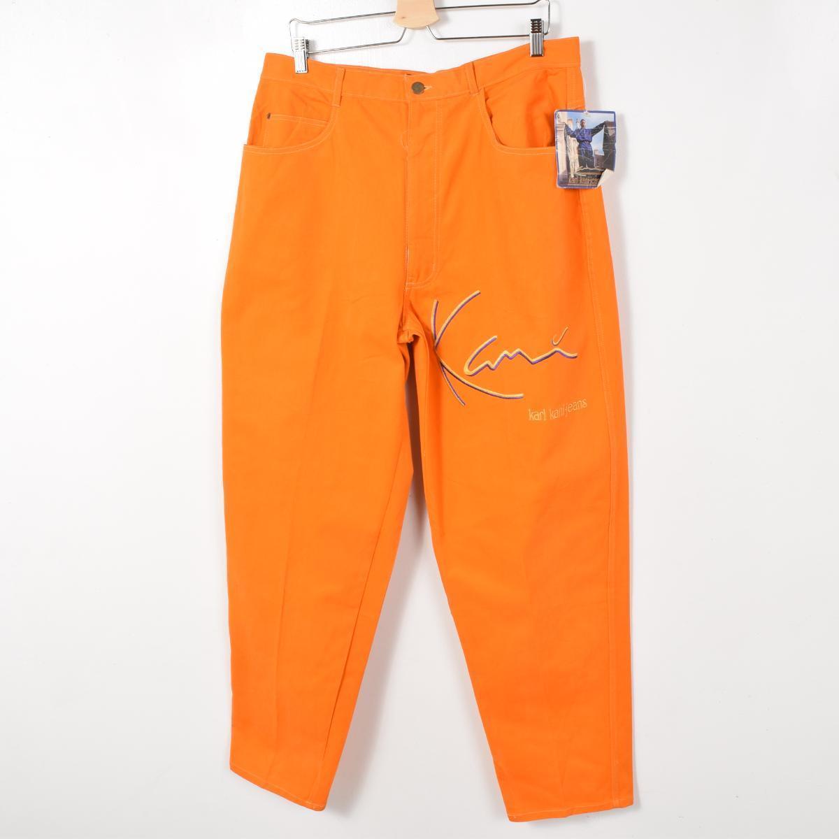 存量不活死人股票 90 年代在美国锥形牛仔裤图案的裤子男装 w36 卡尔卡尼牛仔裤 /wew6289