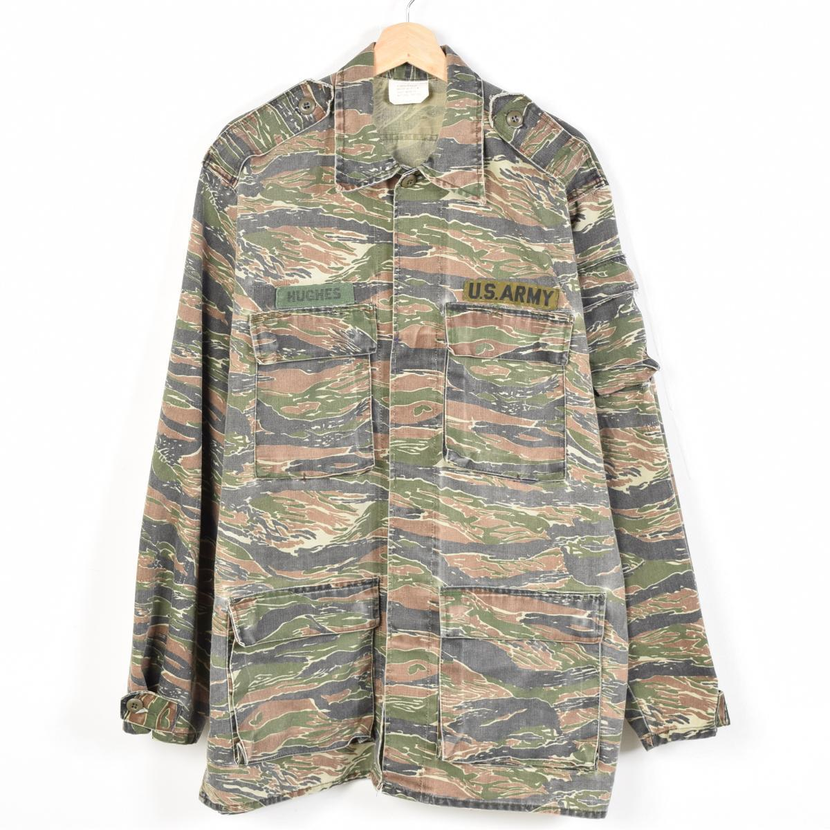 私人美国作出虎纹迷彩军事美国陆军作战夹克男装 XL PARELLEX 公司 /wew4259