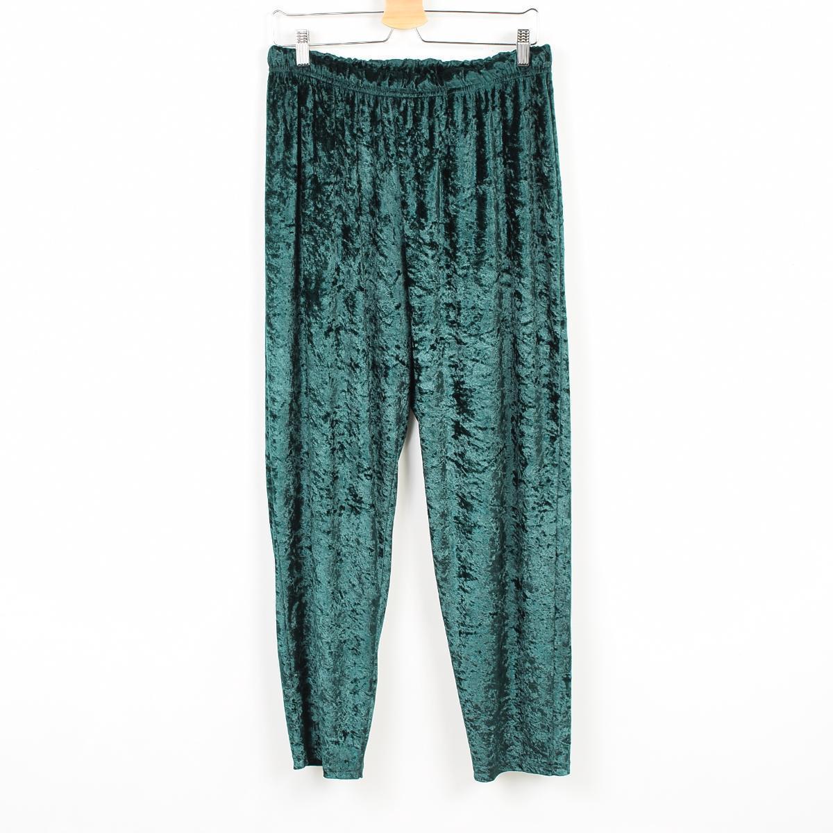 崩溃丝绒裤裤女士尺寸︰ L XL /wex3030