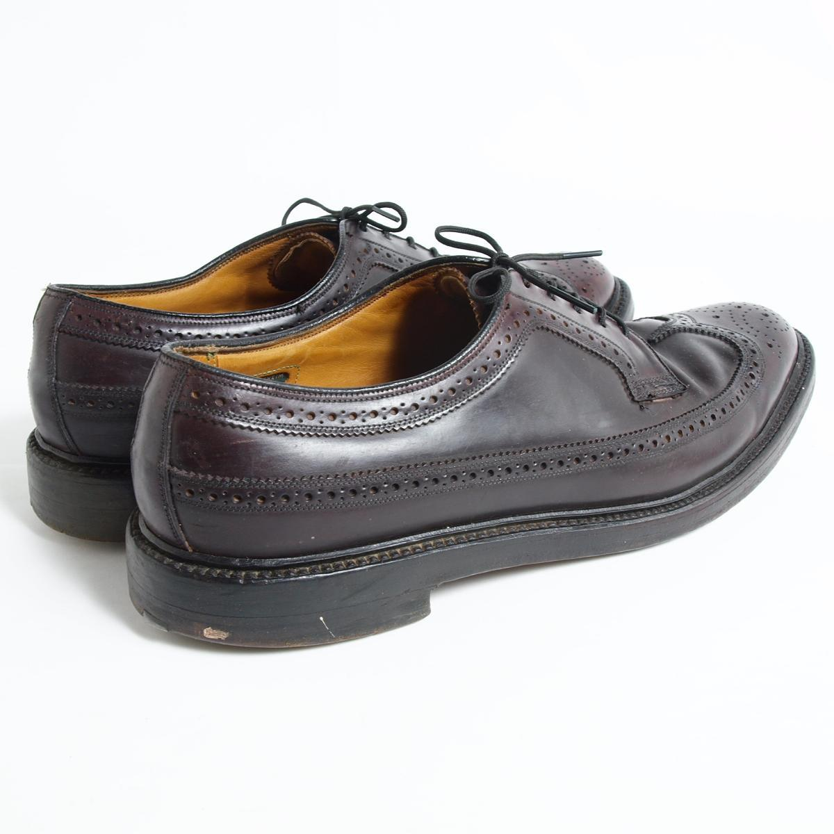 60年代Florsheim IMPERIAL帝国的USA制造翼梢鞋10C人28.0cm复古Florsheim/bok4458