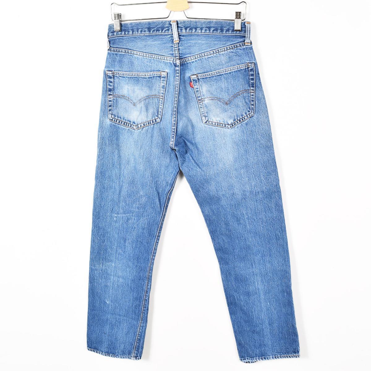 70年代李维斯501 66前期USA制造牛仔裤笔直牛仔裤人w31复古Levi's/wey4023