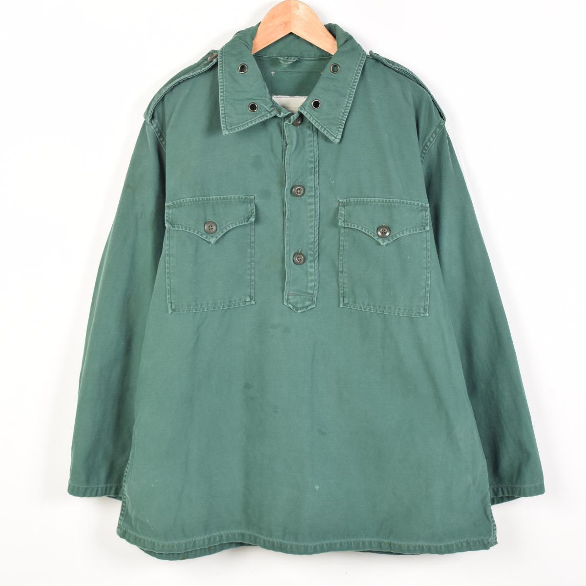 60年代SHIRT,MAN'S,AGGRESSOR,GREEN 255侵略者衬衫军事衬衫人L复古/wez8365