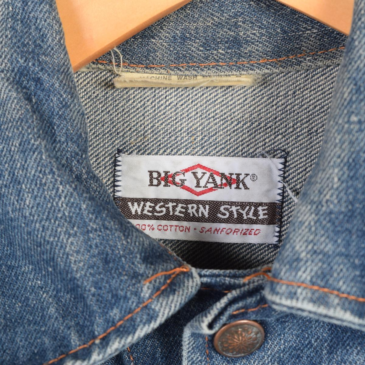 180e1035466c ... 70s Big Yank denim jacket G Jean Lady's M vintage BIG YANK /wab6967