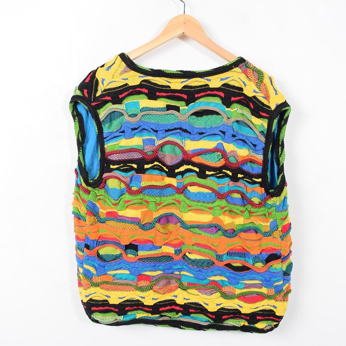 Cousy-like whole pattern knit best men L TURAY /wab0254