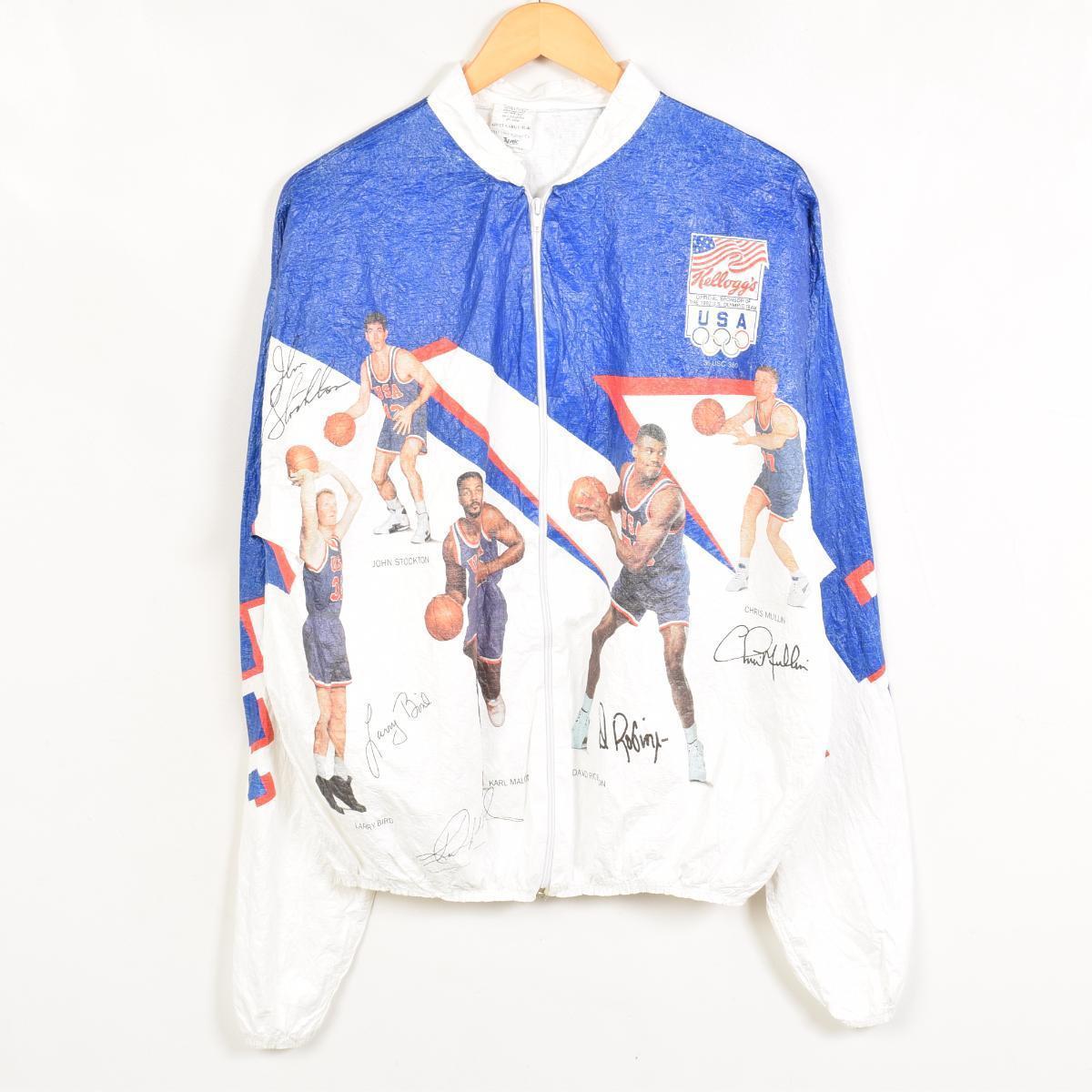 90年代NBA梦之队USA制造纸茄克人L TYVEK/wac1297