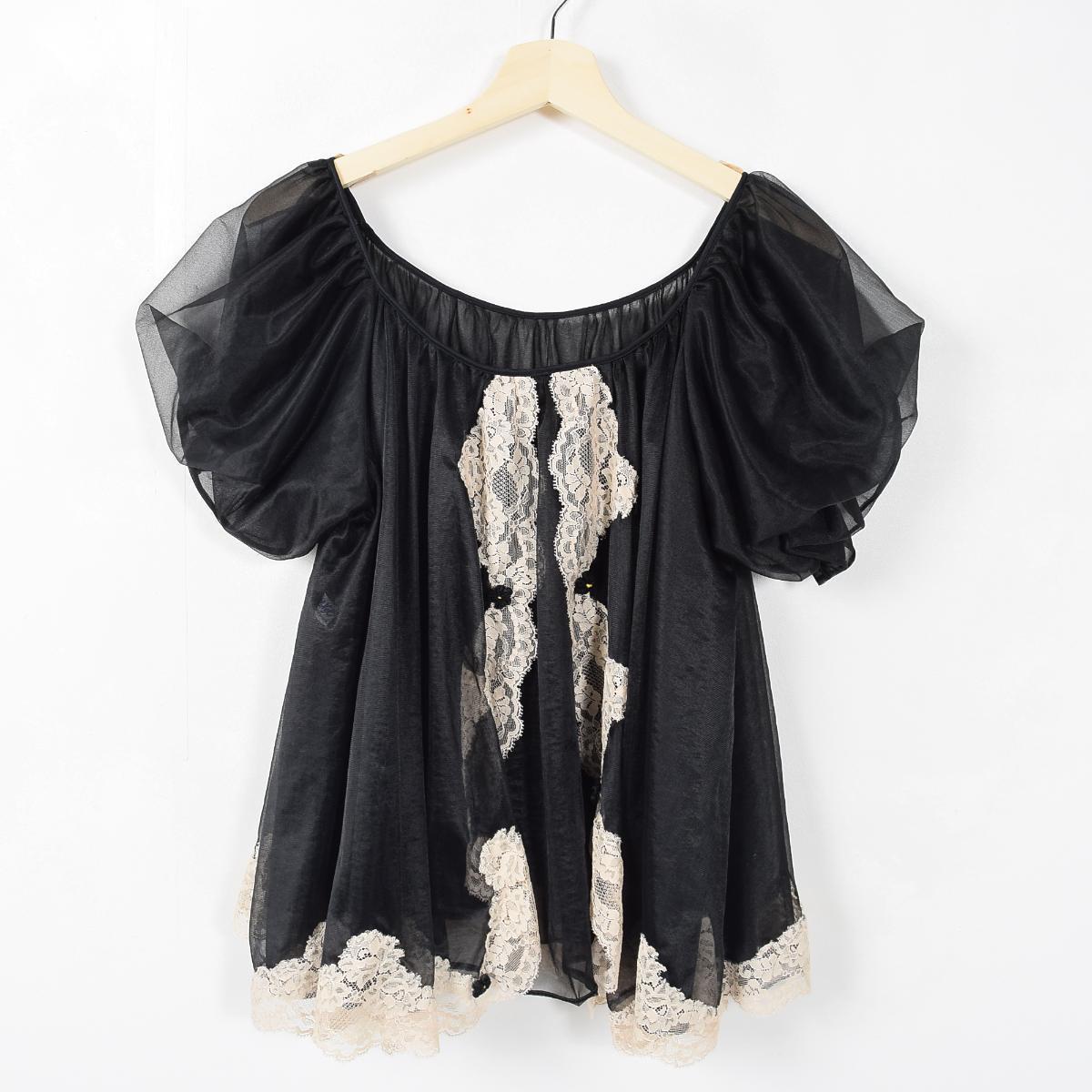 有60年代比赛的shisurupafusuribu短袖女性内衣束腰长上衣女士XL复古Rovel/waa9272