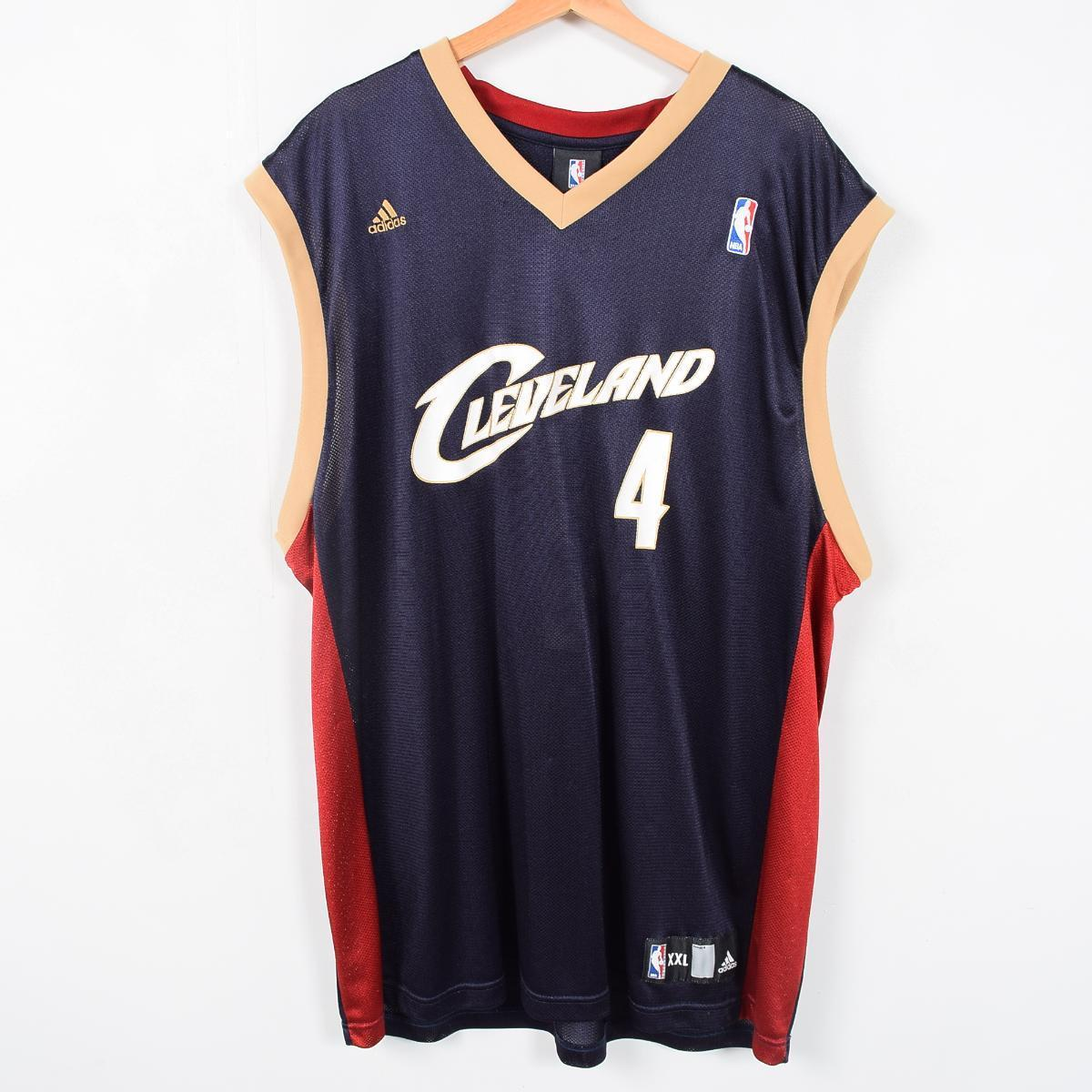 sports shoes 16867 53602 Adidas NBA CLEVELAND CAVALIERS Cleveland Cavaliers RASHEED ABUAL WALLACE  game shirt replica uniform men XXL adidas /wag2616