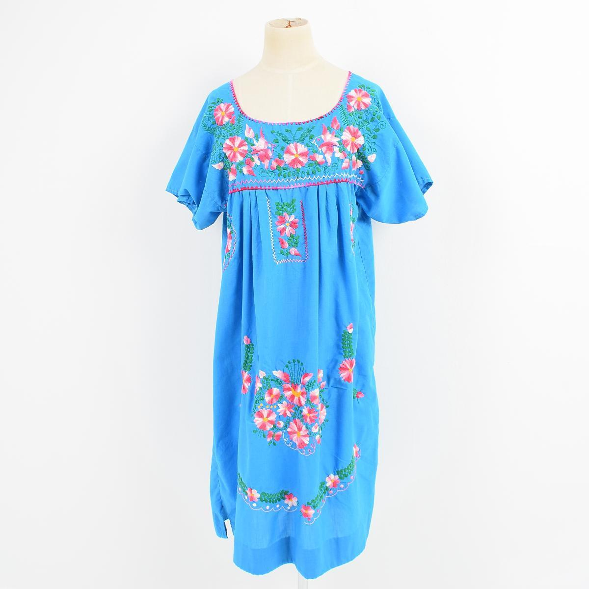 e106e0d319 Hand embroidery floral design embroidery Mexican dress Lady's M /wes9373 ...