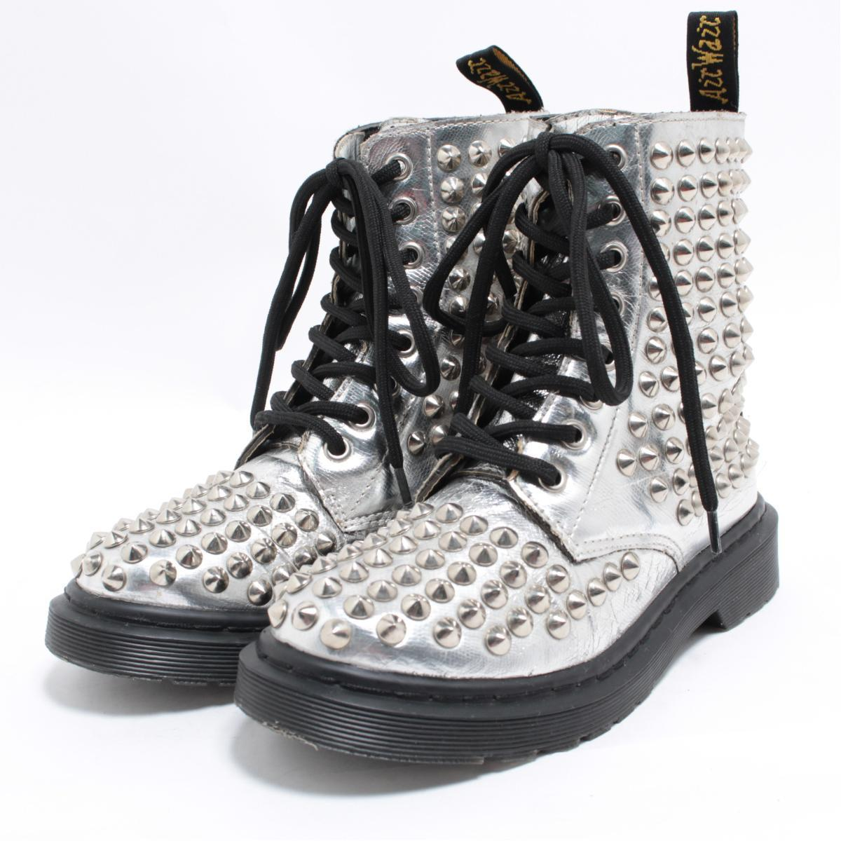 Doctor Martin Dr.Martens studs 8 hall boots UK2 Lady's 20.5cm /bol3964