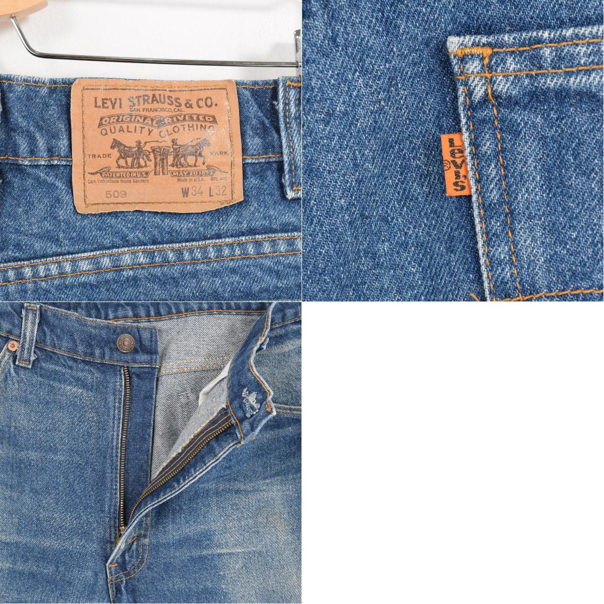 76da4153 ... Men w33 /wad1377 in the 90s made in Levis Levi's 509 orange tab jeans  straight