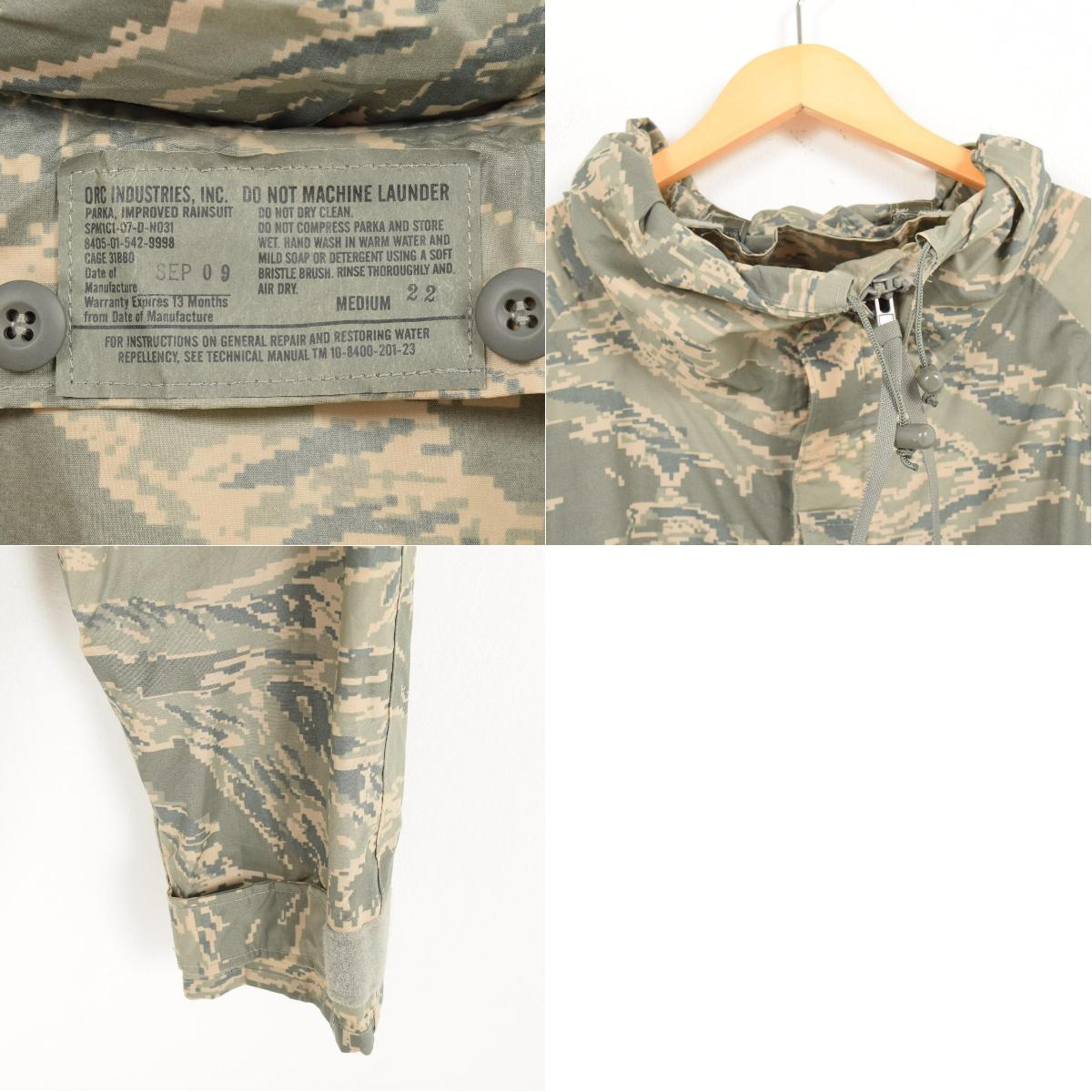 Digital duck camouflage pattern GORE-TEX Gore-Tex military rain parka men M  ORC INDUSTRIES INC /wah1566 for 01 years made in delivery of goods U S