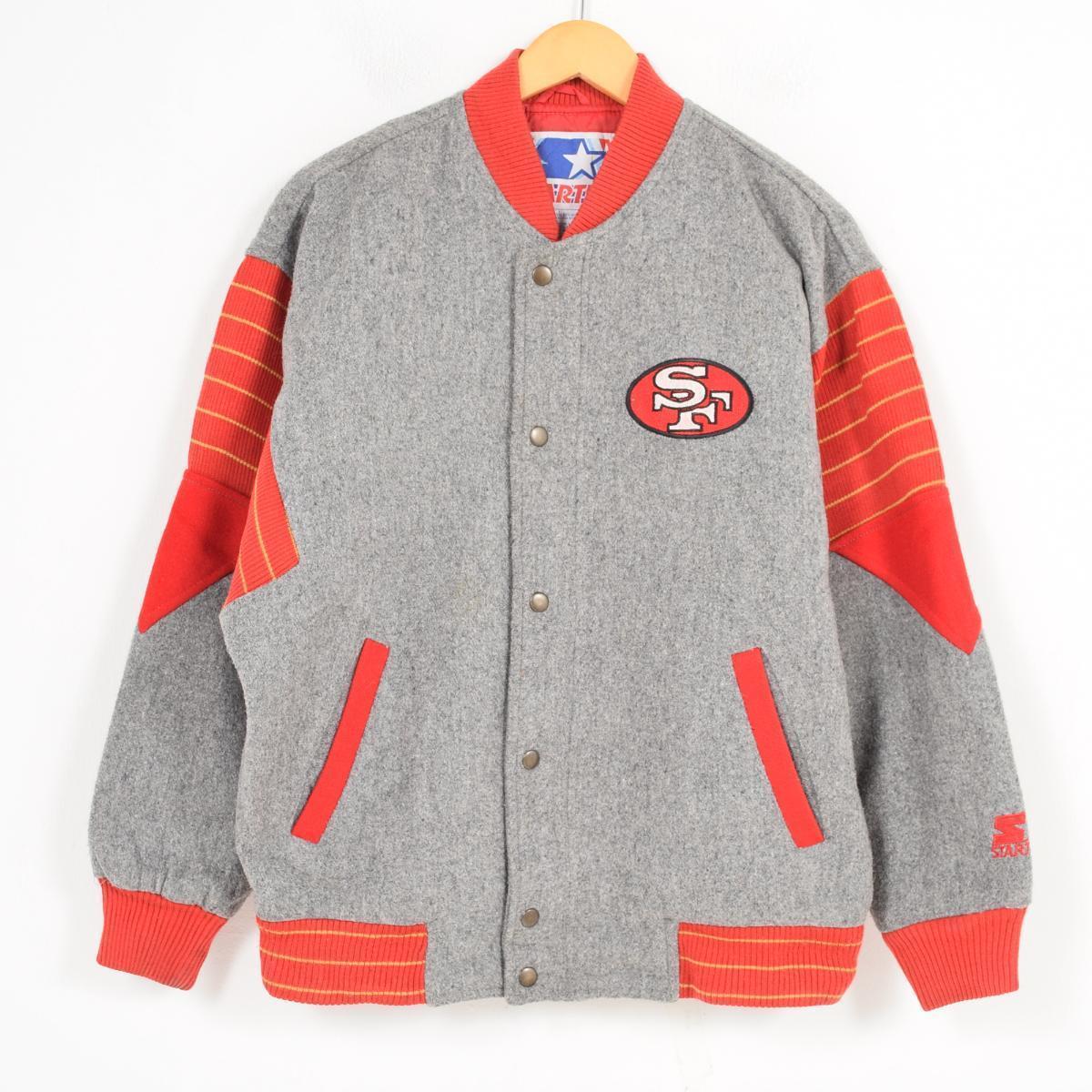best cheap f953b 11246 90s starter Starter NFL SAN FRANCISCO 49ERS San Francisco 49ers reshuffling  wool award jacket Award jacket men M /wag8237