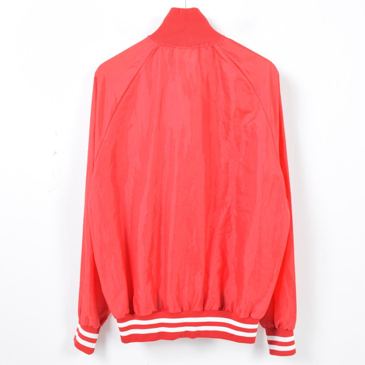 Men XL vintage /wak0915 in the 80s made in King Louis King Louie half zip nylon pullover USA