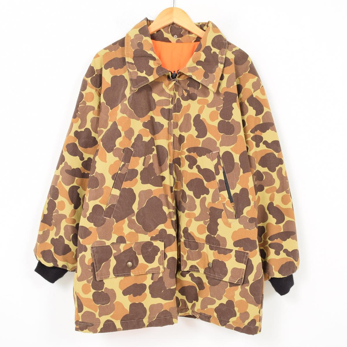 af16a3c224c04 GAMEHIDE duck hunter duck camouflage reversible hunting jacket men XL  /wag7263 ...