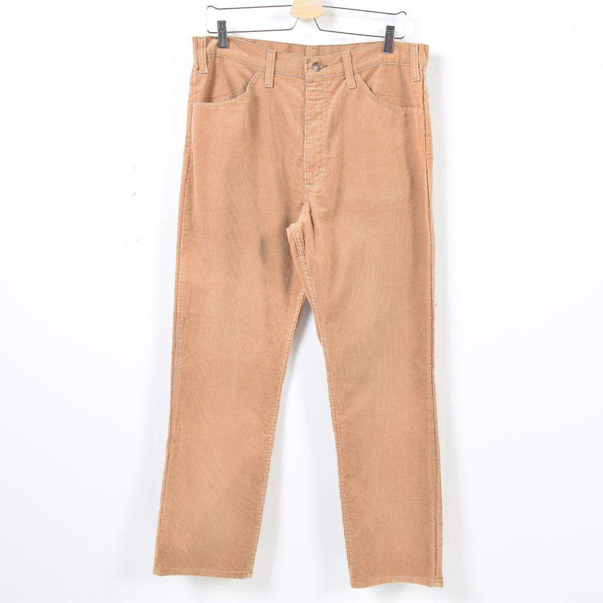 fda12f4d 80s Levis Levi's 519-1523 42TALON zip corduroy underwear men w34 vintage  /wak0453