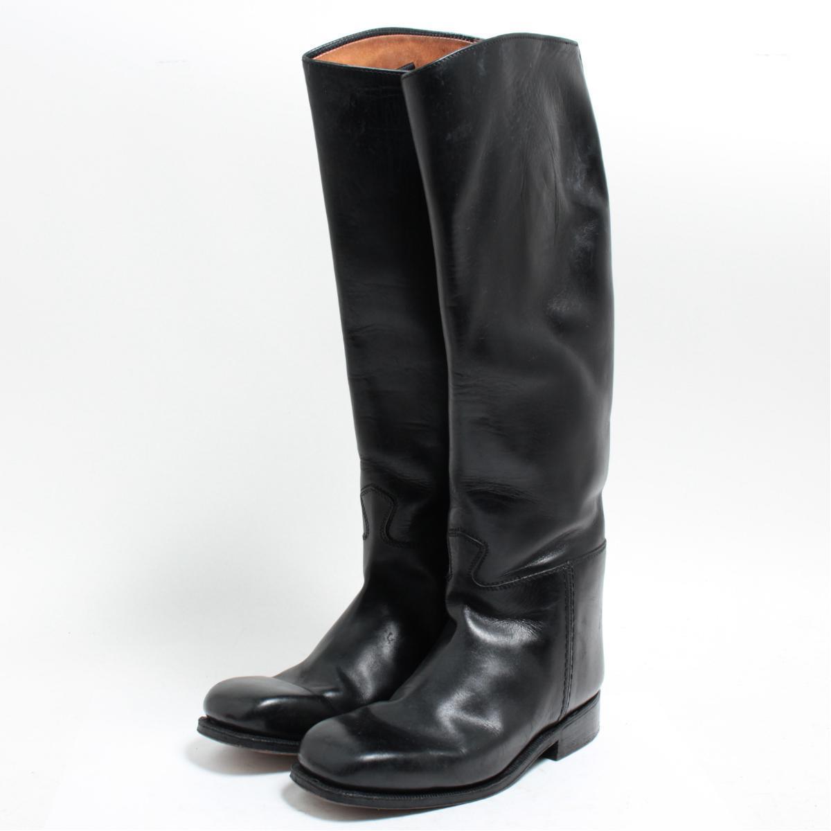 本革レザー ジョッキー乗馬ブーツ 6 レディース24.0cm /boj8309 【中古】 【171210】