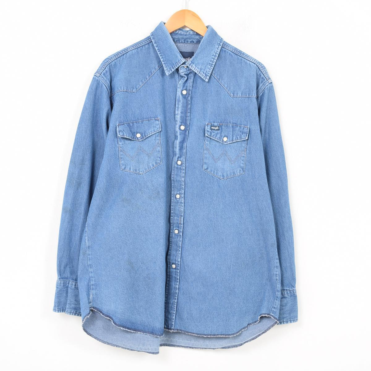 9388ea4e9d VINTAGE CLOTHING JAM  Wrangler Wrangler long sleeves denim western ...