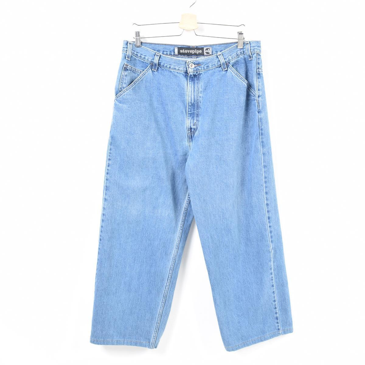4634a9a14a96f 90s Levis Levi's SILVER TAB silver tab STOVEPIPE cropped length jeans denim  underwear men w37 /wao7394
