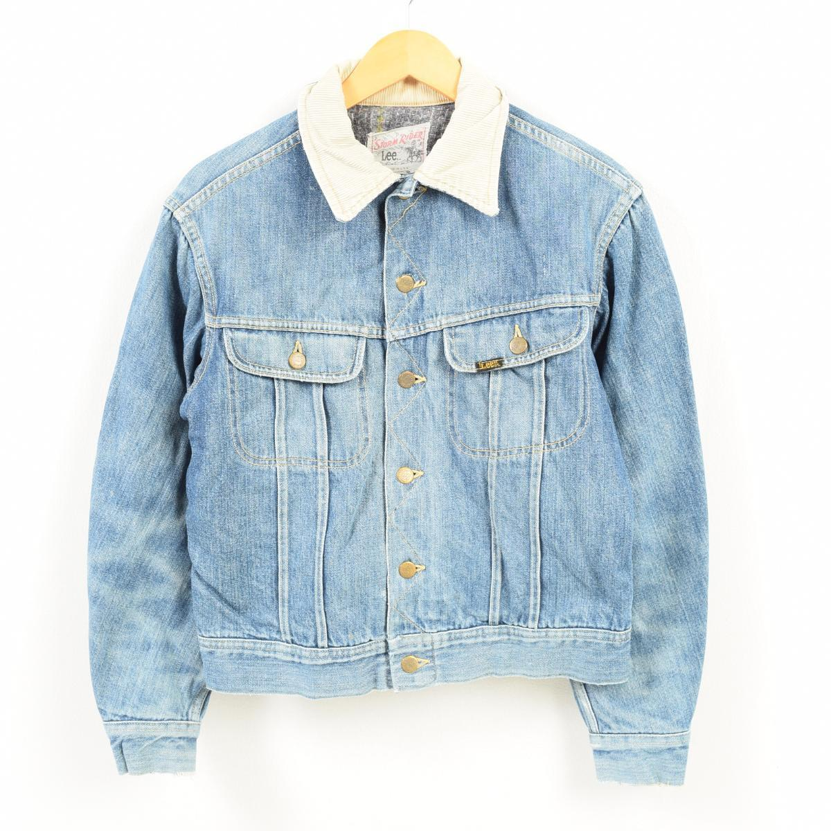 3f2eb08a Men S vintage /wak8662 in the 70-80 generation made in Lee Lee STORM RIDER  storm rider denim jacket G Jean USA