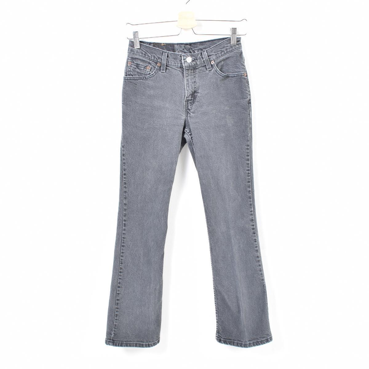 9316215153c Levis Levi's 517 BOOT CUT SLIM FIT bootcut jeans black denim underwear  Lady's M(w26 ...