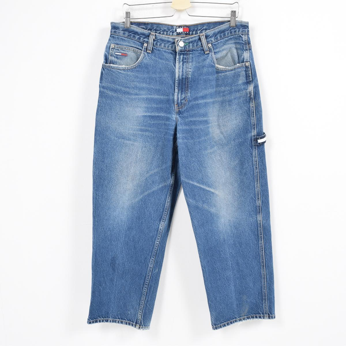 Lady's M(w26) war0194 in the 90s made in ゲス Guess JEANS tapered jeans color denim underwear USA