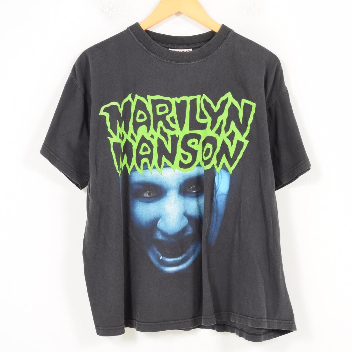 90年代 REDWOOD MARILYN MANSON マリリンマンソン バンドTシャツ メンズL /wao5257 【中古】【古着屋JAM】【古着屋JAM】【n1802】 【180219】