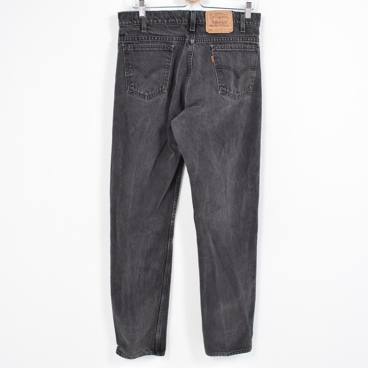 6f6edc8b4ae VINTAGE CLOTHING JAM: Men w34 /wao2235 in the 90s made in Levis Levi's 505  REGULAR FIT STRAIGHT LEG black jeans tapered denim underwear USA | Rakuten  Global ...