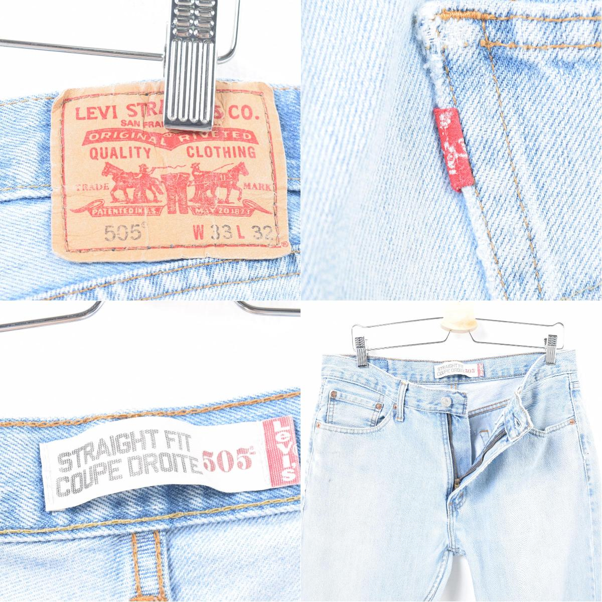 5b17e4b812c ... Levis Levi's 505 STRAIGHT FIT COUPE DROITE tapered jeans denim  underwear men w35 /wan4995