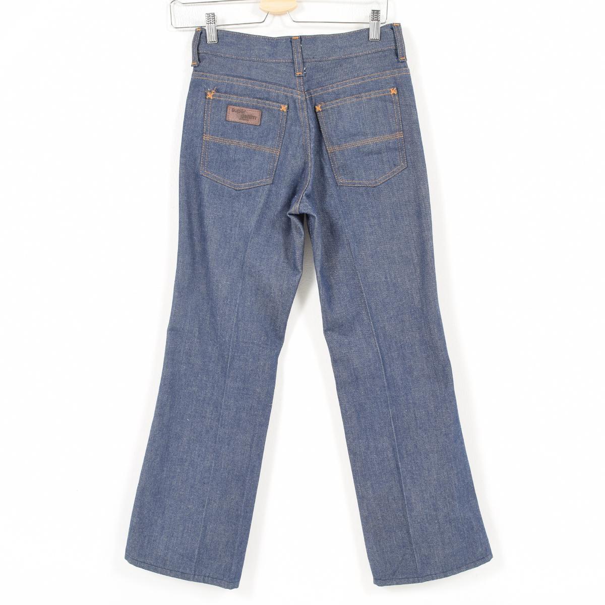 5d2688c5501 70s Jay sea penny J.C.Penney super denim long underwear Lady's M(w28)  vintage /wal4839