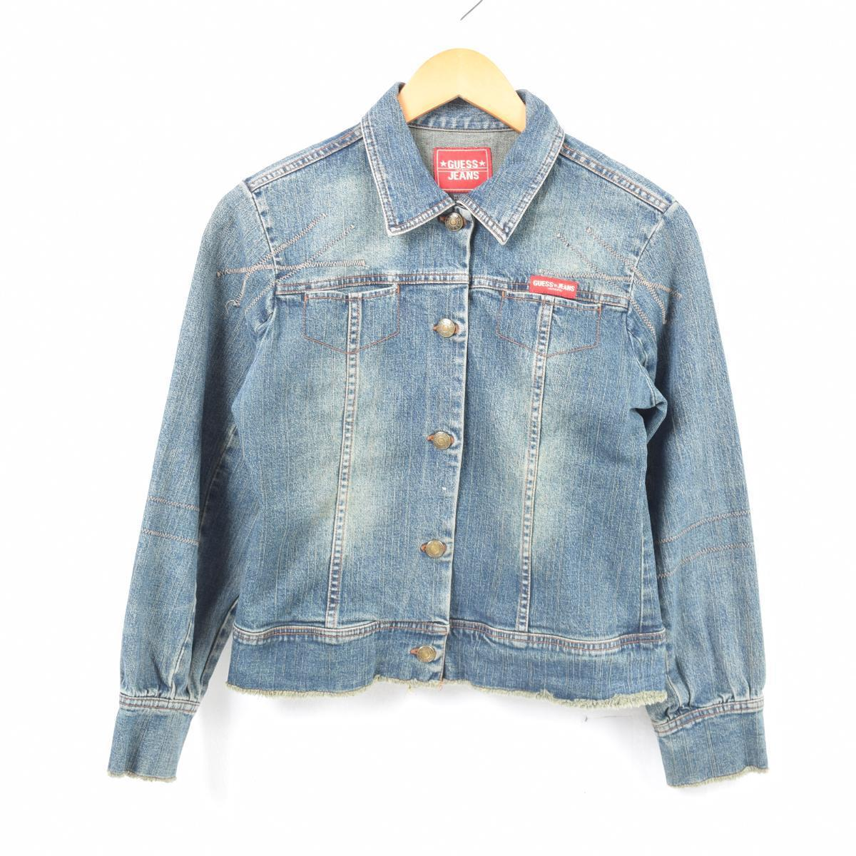 official photos 47491 41f23 ゲス Guess JEANS denim jacket G Jean Lady's M /wan4553