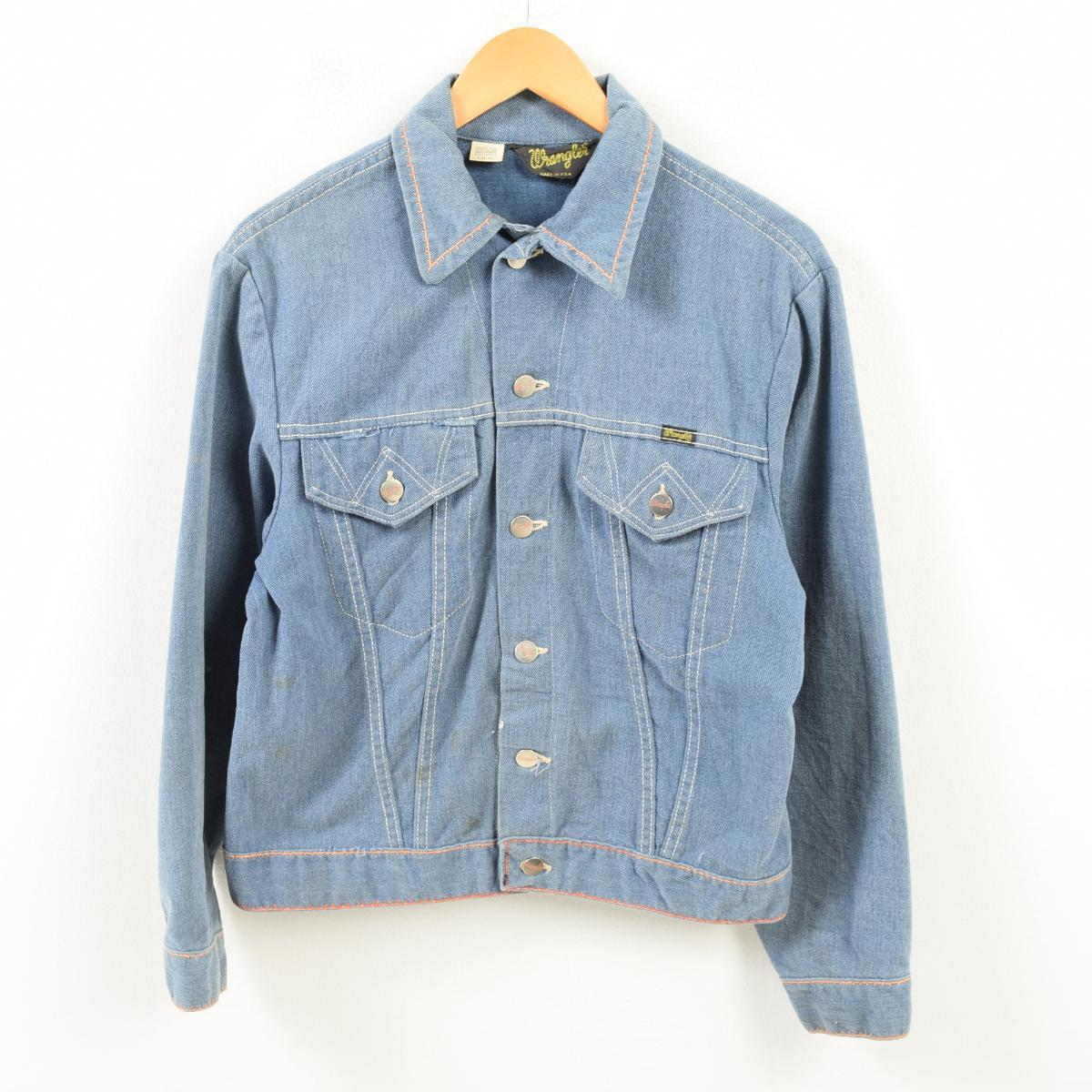 89c5b67d Product made in 70s Wrangler Wrangler denim jacket G Jean USA 40 men's S  vintage ...