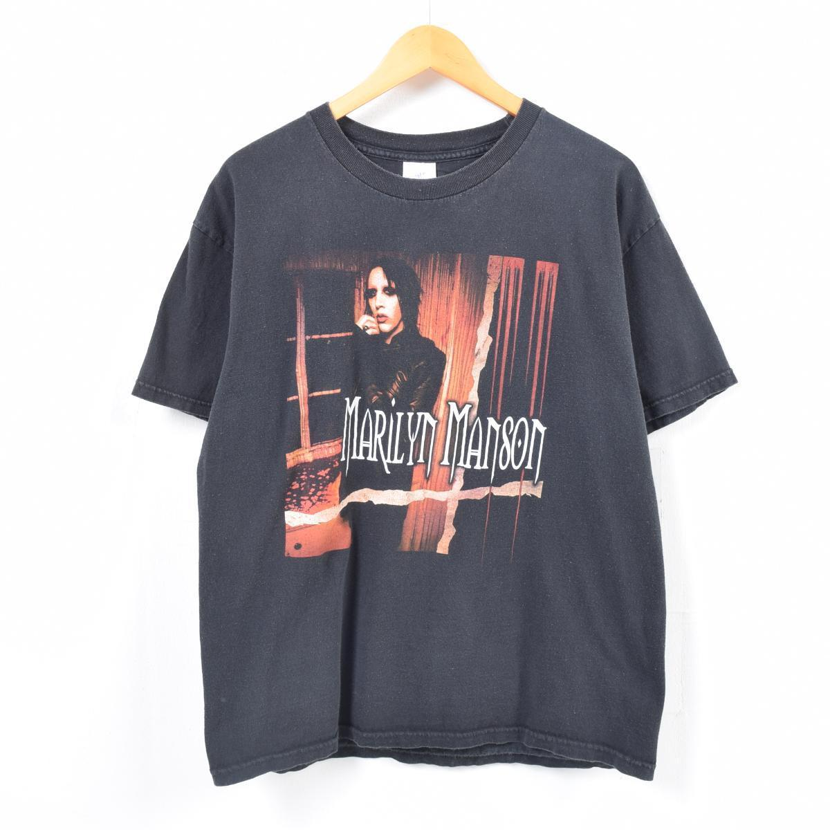 2000年~ TENNESSEE RIVER MARILYN MANSON マリリンマンソン EAT ME DRINK ME バンドTシャツ メンズL /wap4486 【中古】【n1803】 【180318】