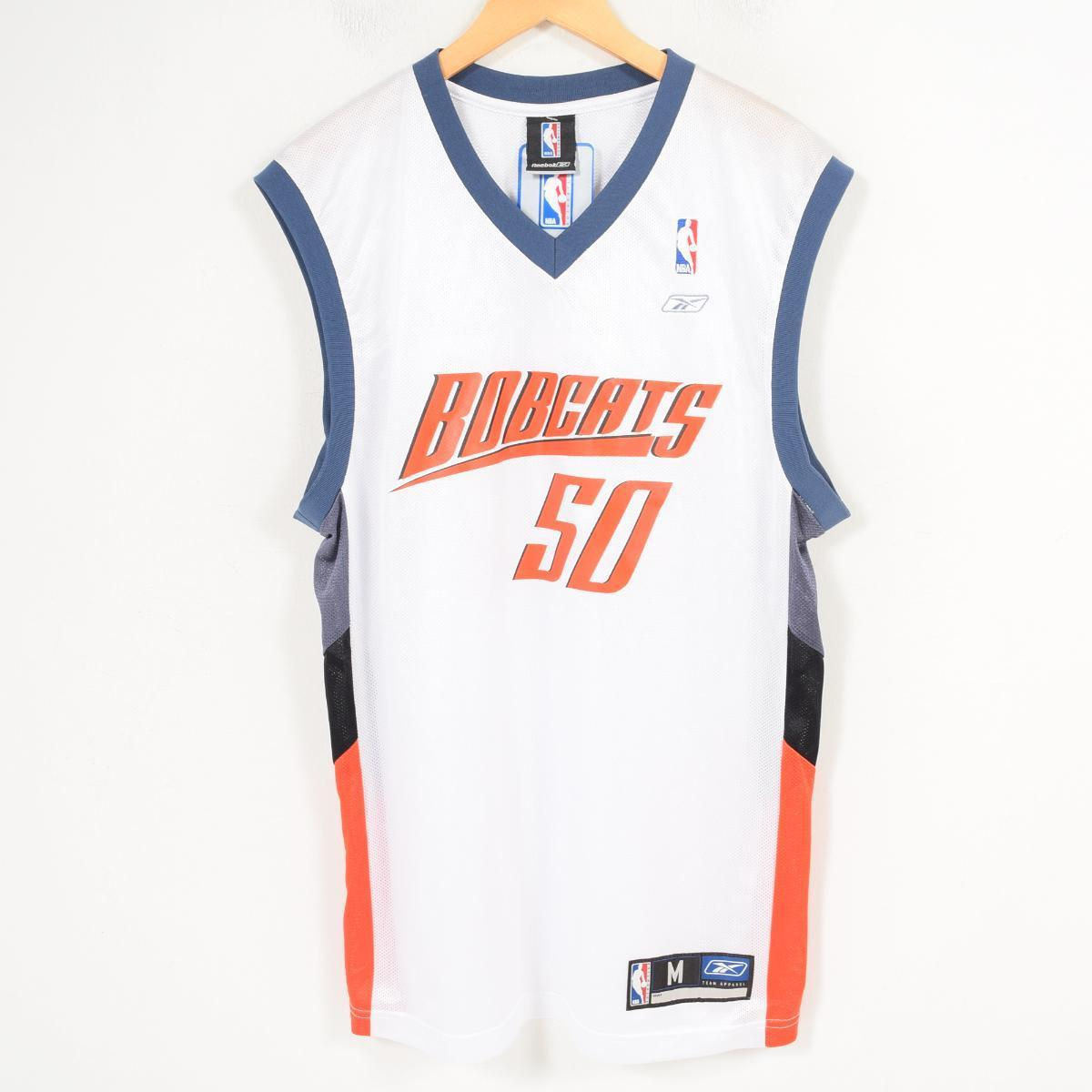 promo code 156a4 a72d9 DEADSTOCK dead stock Reebok Reebok NBA CHARLOTTE BOBCSTS Charlotte Bobcats  game shirt replica uniform men M /wap0661